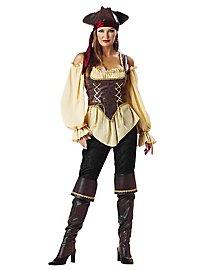 Déguisement de femme pirate rustique