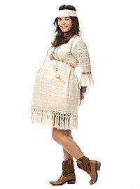 Déguisement de future maman hippie pour femme enceinte
