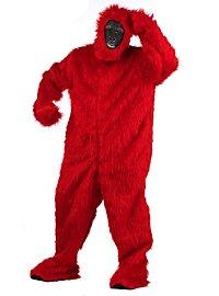 Déguisement de gorille rouge