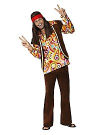 Déguisement de hippie à fleurs