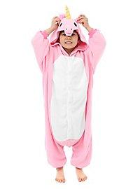 Déguisement de licorne rose Kigurumi pour enfant