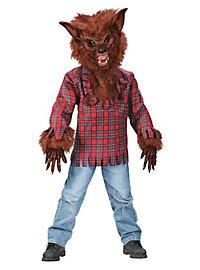 Déguisement de loup-garou marron pour enfant