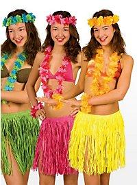 Déguisement de plage Hawaï jaune