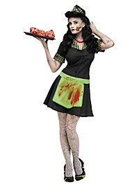 Déguisement de zombie serveuse de diner