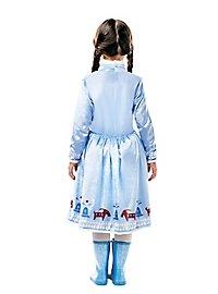 Déguisement robe d'Anna La Reine des neiges pour enfant
