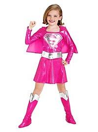 Déguisement Supergirl rose pour enfant