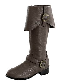 Deluxe Pirate Boots Kids brown