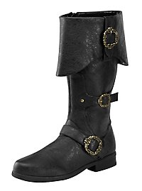 Deluxe Pirate Boots Men black