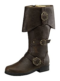 Deluxe Pirate Boots Men brown