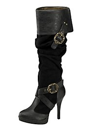 Deluxe Pirate Boots Women black