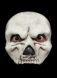 Demi-masque de crâne blanc en latex