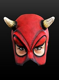 Demi-masque de diablotin en latex