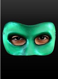 Demi-masque vert en latex