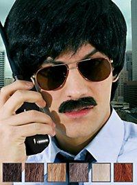 Détective Moustache professionnelle en poils véritables