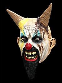 Devil mask with ice cream waffle horns