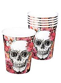 Dia de los Muertos paper cups 6 pieces