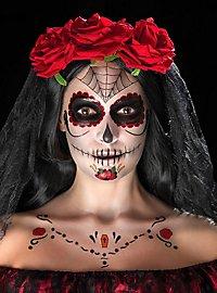 Dia de los Muertos Schminkset schwarz-rot