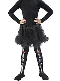 Dia de los Muertos tights for children
