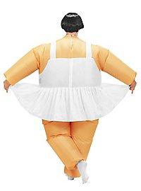 Dicke Ballerina Aufblasbares Kostüm