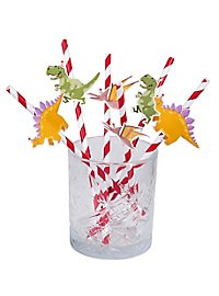 Dino paper straws 6 pieces