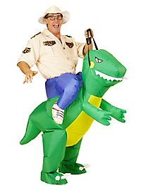 Dino-Reiter Aufblasbares Kostüm