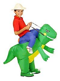 Dinosaur rider inflatable kid's costume