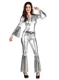 Disco Diva silber Kostüm