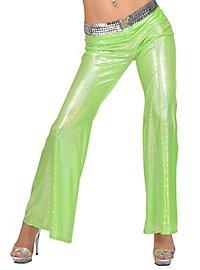 Disco Glitter Ladies Trousers light green