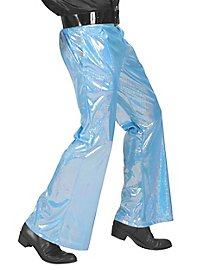 Disco Glitter Men's Trousers light blue