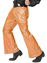 Disco Glitter Men's Trousers orange