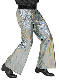 Disco glitter men's trousers silver