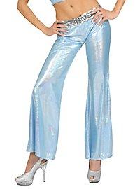 Disco Glitzer Damenhose hellblau