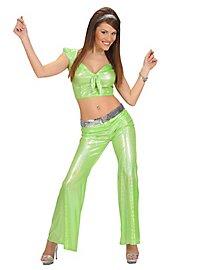 Disco Glitzer Damenhose hellgrün