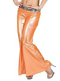Disco Glitzer Damenhose orange