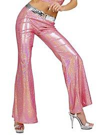 Disco Glitzer Damenhose rosa