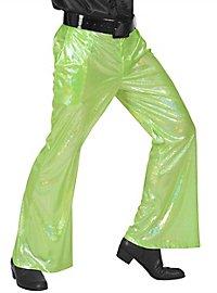 Disco Glitzer Herrenhose hellgrün
