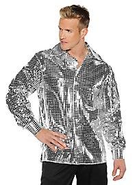 Disco Hemd silber