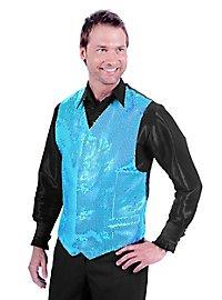 Disco vest turquoise