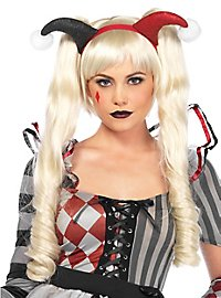 Doll wig with plait clips blond