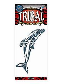 Dolphin Tribal Temporary Tattoo
