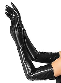 Dominatrix Long Zipper Gloves