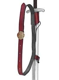 Doppelter Rückenschwerthalter Koppel rot