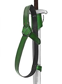 Doppelter Rückenschwerthalter Ring grün
