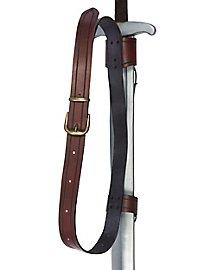 Doppelter Rückenschwerthalter Schnalle braun