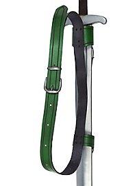 Doppelter Rückenschwerthalter Schnalle grün