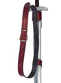 Doppelter Rückenschwerthalter Schnalle rot