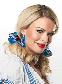 Dorothy Haarschleife blau-weiß