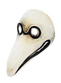 Dottore della Peste piccolo bianco Venezianische Miniaturmaske