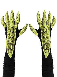 Drachenklauen Handschuhe grün