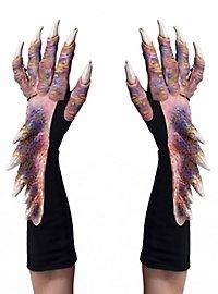Drachenklauen Handschuhe rosa
